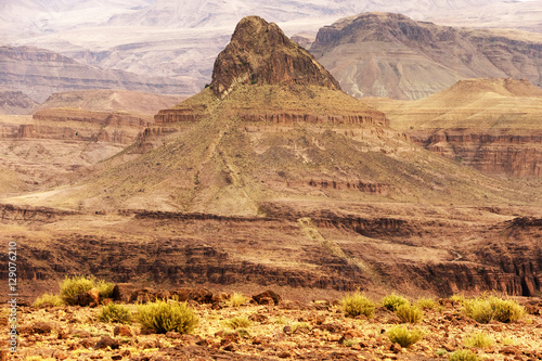 Poster Alpine landscape in the Atlas Mountains, Morocco, Africa