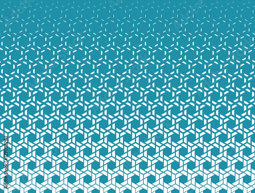 Abstract geometry blue hipster fashion halftone pattern