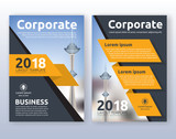 Multipurpose corporate business flyer layout design. Suitable for flyer, brochure, book cover and annual report. Yellow and black color scheme in A4 size layout template background with bleeds.