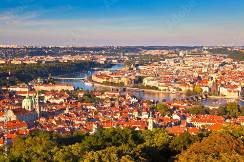 Poster Panorama of Prague, Czech Republic