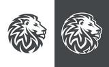 lion head vector logo design, abstract lion logo, tiger logo