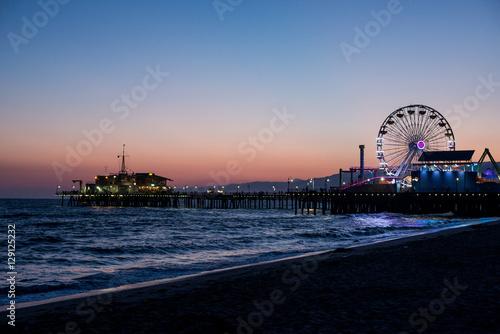 Deurstickers Amusementspark Santa Monica Pier