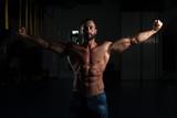 Sexy Italian Man Posing In Gym
