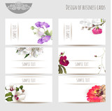 Business cards with floral elements