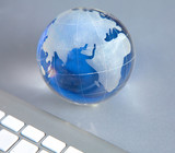 the globe and the keyboard