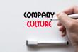 Company culture written on whiteboard