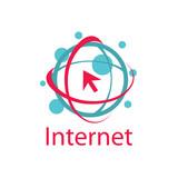 vector logo internet
