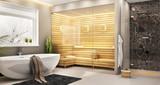Fototapety Sauna in house