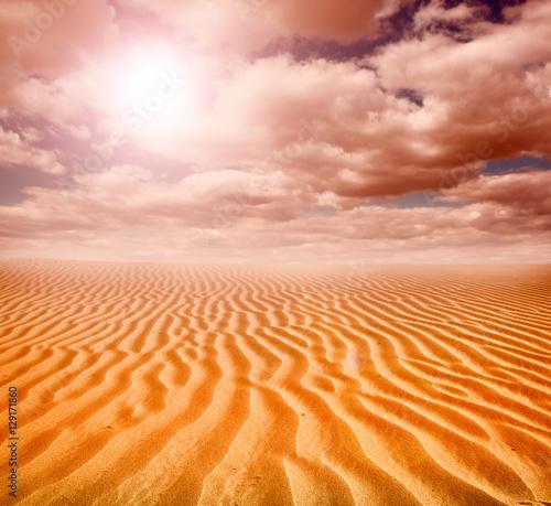 Foto op Canvas Oranje eclat Sunset over the Sahara Desert