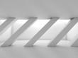 Abstract white empty room with diagonal columns