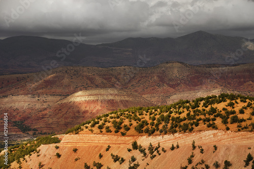 Poster Mountain landscape in the Atlas mountains, Morocco, Africa