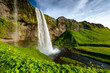 Seljalandsfoss one of the most famous Icelandic waterfall - 129191498