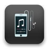 illustration of music player icon