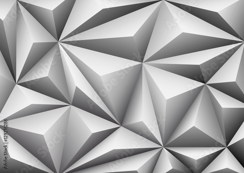 Fototapeta na wymiar Abstract geometric white background. Folded paper in shape trian
