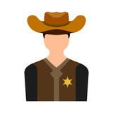 sheriff flat icon