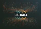 big data background vector illustration. Information streams. Future technology - 129228010