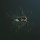 Fototapety Abstract big data illustration. Information streams