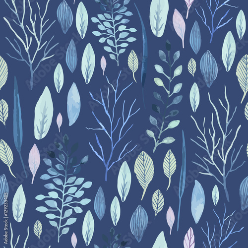 Cotton fabric Flower seamless pattern.