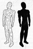 futuristic robot illustration