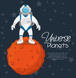 universe planets space concept vector illustration design