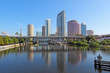 Partial skyline and USF Park in Tampa, Florida