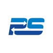 letter P and S logo vector - 129249601