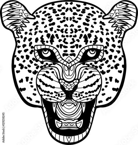 Gamesageddon Monochrome Hand Drawn Ink Drawing Painted Jaguar On