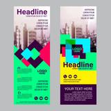 Modern Roll up layout template. flag flyer banner backdrop design. vector illustration background