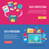 Set of Data Protection and Provision Web Banner