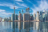 Skyline of Toronto with CN Tower over Ontario Lake  - 129275673