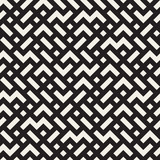 Irregular Mazy Lines. Vector Seamless Black and White Pattern.