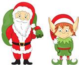 Christmas elf and Santa