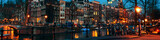 Amsterdam, Holandia kanały i mosty