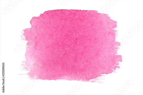 close up of color strokes on white background with clipping path - 129289630
