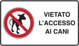 cartello di divieto ingresso cani