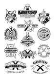 Fototapety Vector set of barbershop logos, signage