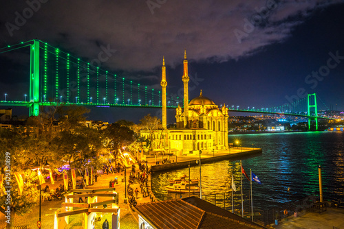 Ortakoy mosque, Istanbul, Turkey Poster