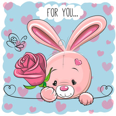 Cartoon Rabbit with flower