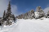 Winter mountain landscape . Strbske Pleso. Slovakia.