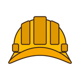 cartoon helmet head protective industrial design vector illustration eps 10