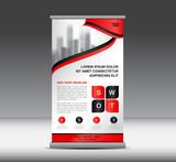 Red Roll Up Banner template vector illustration, banner design, standy design