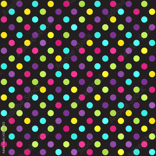 Cotton fabric Polka dot pattern. Vector seamless dot background