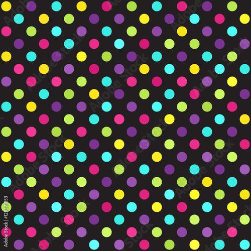 Stoffe zum Nähen Polka Dot Muster. Vektor-nahtlose Dot-Hintergrund