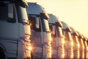 Flota ciężarówek tirów