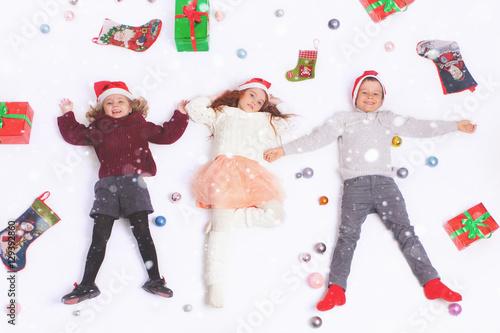 Poster Merry Christmas 2016 Black Friday Cute little kids