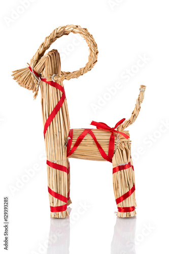 Poster Yule Goat or Christmas goat is a Scandinavian and a Northern European Yule and Christmas symbol and traditional christmas decoration