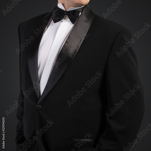 sexy men in tuxedo and bow