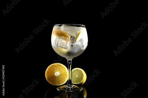 Poster Gin Tonic con limón y naranja