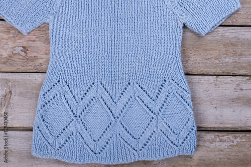 Poster Knitted handmade sweater.