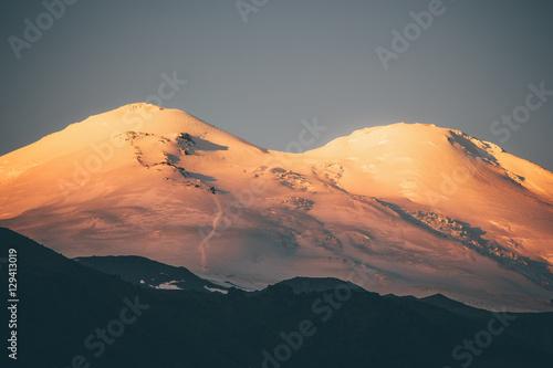 Elbrus Mountain at sunrise Landscape Travel scenic view